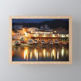 Harbour at dusk Framed Mini Art Print