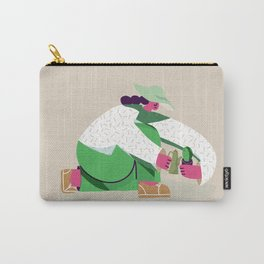 Plants lover girl in hat gardening Carry-All Pouch