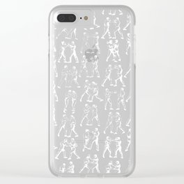 Round One STEEL BLUE / Vintage boxers Clear iPhone Case