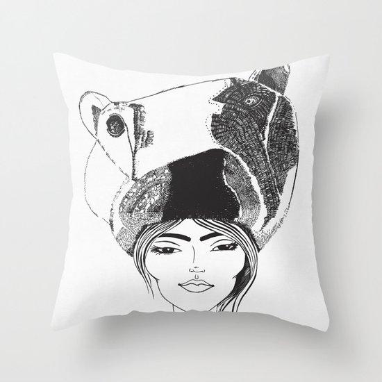 PolarGirl Throw Pillow