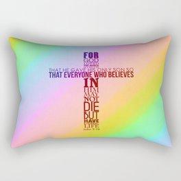 John 3:16 Rectangular Pillow