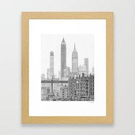 Lower East Side, 1930's Framed Art Print