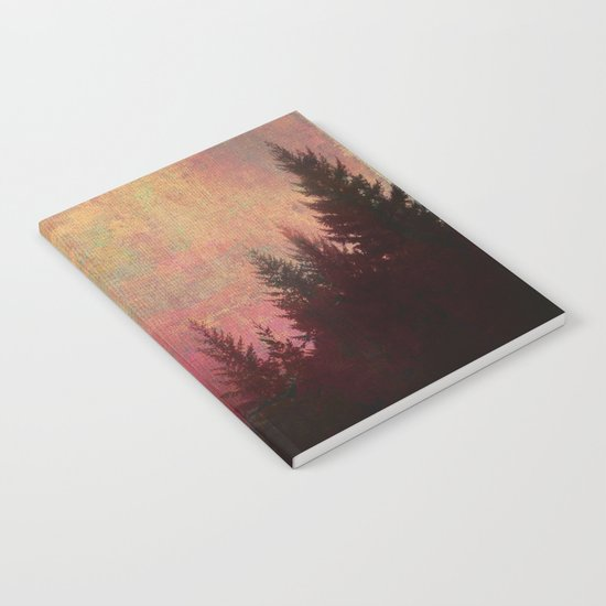 Repose, Abstract Landscape Trees Sky Notebook