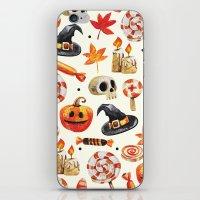 halloween iPhone & iPod Skins featuring halloween by Ceren Aksu Dikenci