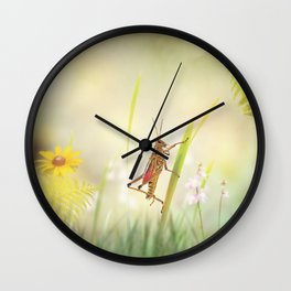 Southeastern Lubber Grasshopper on the grass Wall Clock
