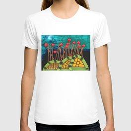 Bent Saplings Nature Center Architectural Illustration T-shirt