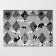 Argyle Frenzy in Highlight Canvas Print