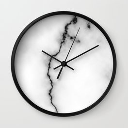 Black and white marble texture 9 Wall Clock