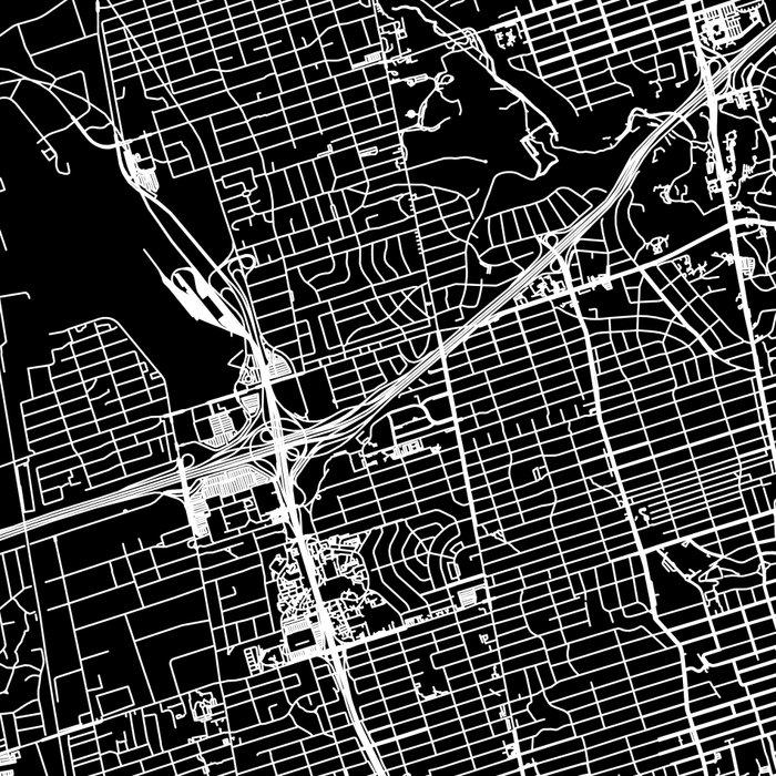 Toronto Black Map Leggings