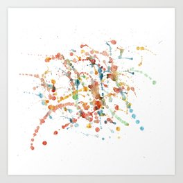 Action Painting #1 Art Print