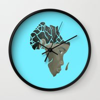 african Wall Clocks featuring African Continent by ArtSchool