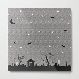 Spoopy Cemetery Print Metal Print