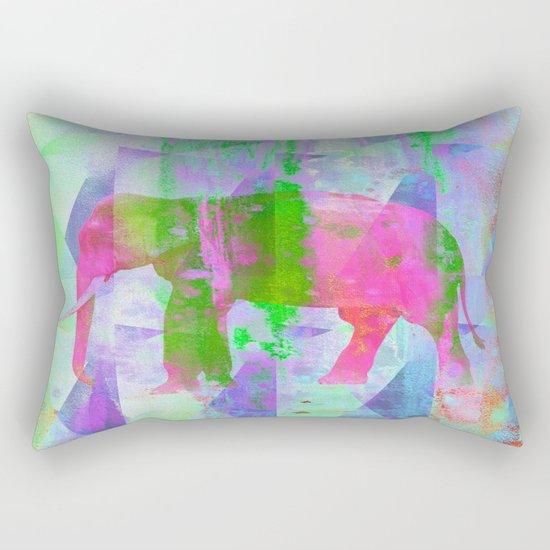 Colorful Elephant Rectangular Pillow