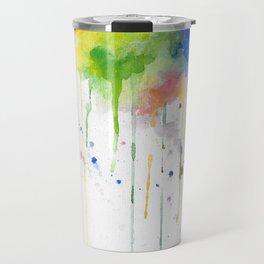 RainbowColor Burst 1 - Watercolor #Society6 Travel Mug