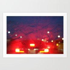 steamy car light bokeh Art Print