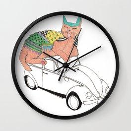 kaela and cat Wall Clock