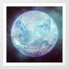The Blue Marble - Vintage Earth Art Print