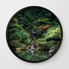 Portland Japanese Garden - Portland, Oregon Wall Clock