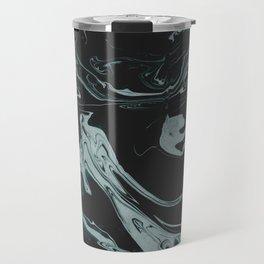 Ruin - Dark Suminagashi Marble Series: 07 Travel Mug