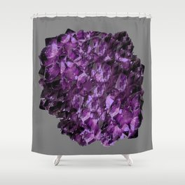AMETHYST MINE CRYSTAL NODULE Shower Curtain