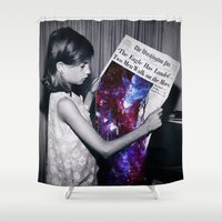 houston Shower Curtains featuring Houston  by Saturos