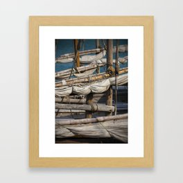 Dhow Masts Framed Art Print