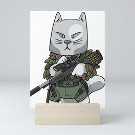 Sniper Cat - Soldier cat lover gift ideas Mini Art Print
