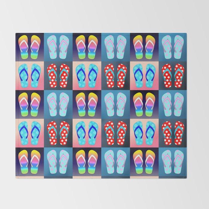 Flip Flop Pop Art Throw Blanket By Julieerindesigns Society40 Extraordinary Flip Flop Throw Blanket