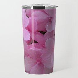 Pink Hydrangea - Flower Photography Travel Mug