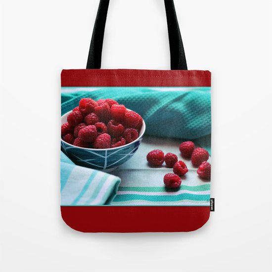 Ruby Delicious - Raspberry Still Life Tote Bag