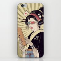 geisha iPhone & iPod Skins featuring Geisha by Azrhon