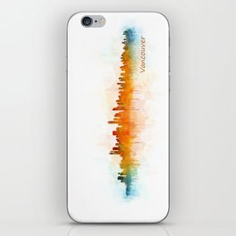 Vancouver Canada City Skyline Hq v03 iPhone Skin
