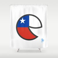 chile Shower Curtains featuring Chile Smile by onejyoo