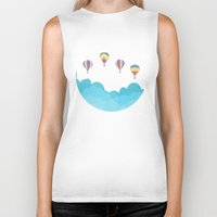 hot air balloons Biker Tanks featuring hot air balloons by studiomarshallarts