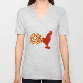 Chinese Lunar New Year Of The Rooster Zodiac Animal 2017 Unisex V-Neck