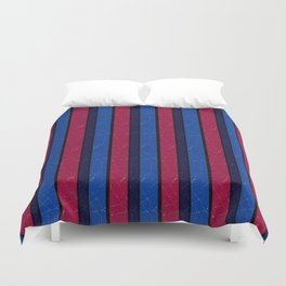 Simple blue and red stripes. Duvet Cover
