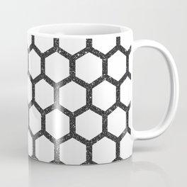 Black Glitter Geometric Pattern Coffee Mug