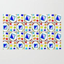 symetric tartan and gingham 21 -vichy, gingham,strip,square,geometric, sober,tartan Rug