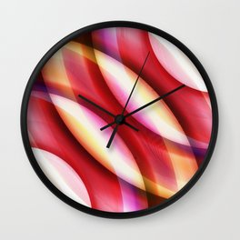 Pattern red Wall Clock