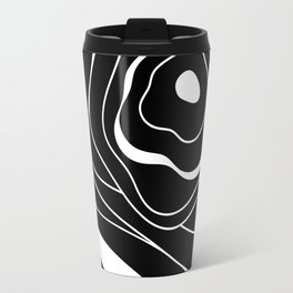 Black and white abstract flower Travel Mug
