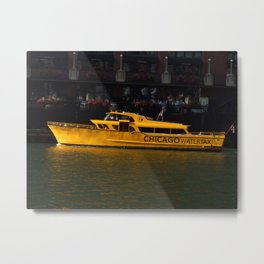 Chicago Taxi Metal Print