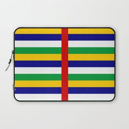 Central African Republic flag stripes Laptop Sleeve