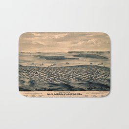 Map Of San Diego 1876 Bath Mat