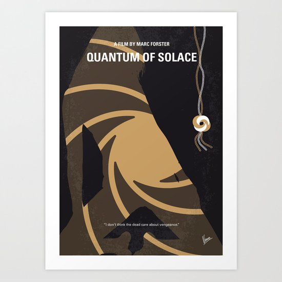 No277-007-2 My Quantum of Solace minimal movie poster Art Print