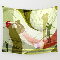 golf Wall Tapestries featuring Golf by Robin Curtiss