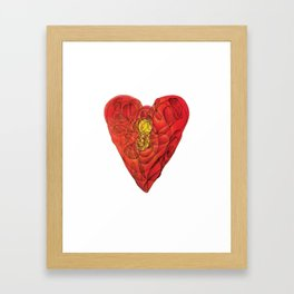 Heart Lock Abstract NeoNeoCubism Framed Art Print