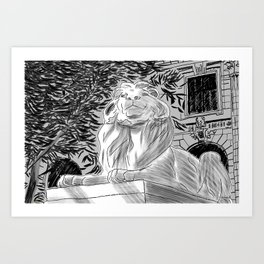 The Lion at New York Public Library Art Print