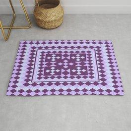 Lavender Patchwork Quilt Rug