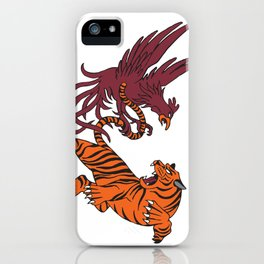 Cocks vs Tigers iPhone Case