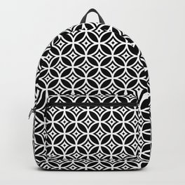 CIRCLE DIAMOND, BLACK AND WHITE Backpack